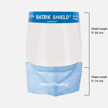 Load image into Gallery viewer, Batrik Faceshield with Drape - Saveface™ (Box of 96)