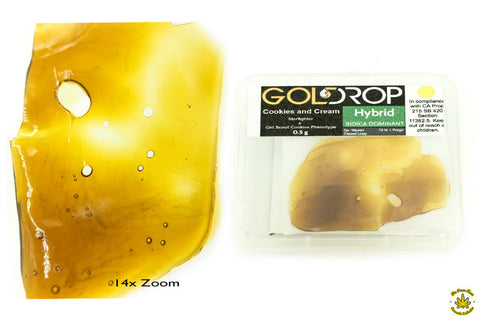 Gold Drop Cookies and Cream Shatter