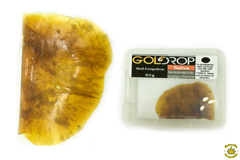 Gold Drop Red Congolese Shatter