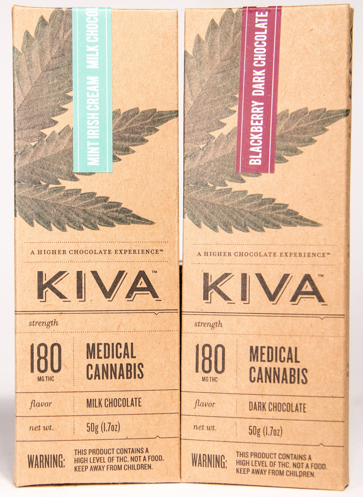 Kiva, Flavored Chocolate Bar (180mg) – The Green Team Cannabis ...