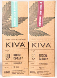 Kiva, Flavored Chocolate Bar (180mg)