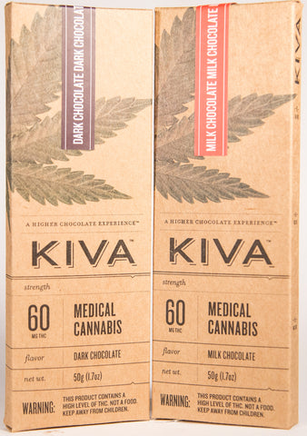 Kiva 60mg Dark Chocolate Bar