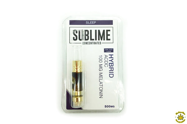 "Sublime Concentrates ""Sleep"" Nighttime CBD Cartridge"