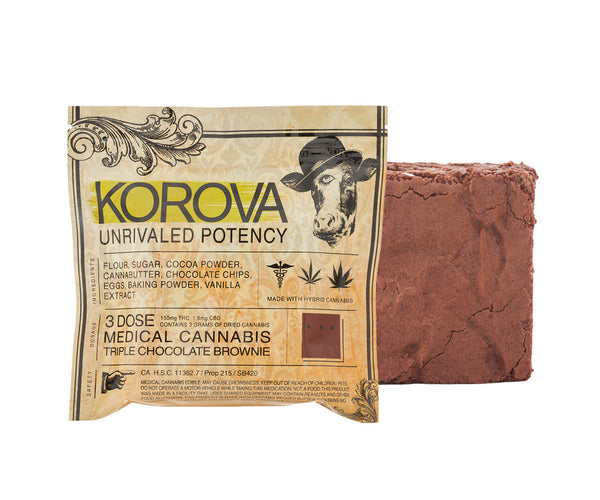 Korova Triple Chocolate Brownie 150mg