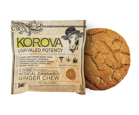 Korova Ginger Chew 150mg