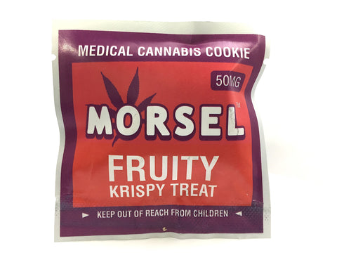 Morsel Fruity Krispy Treat 50mg