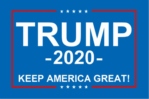 Trump 2020 Car Flag