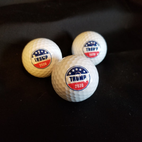 Trump 3pk Golf Ball & Marker Set