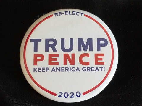 Trump/Pence 2020 Election Button