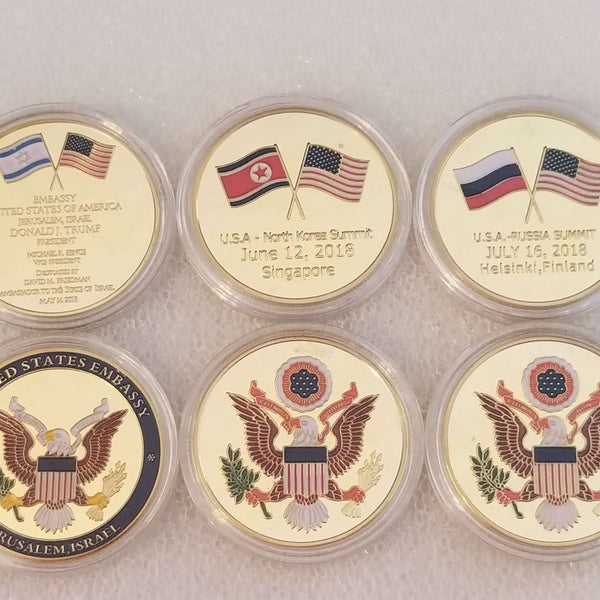 World Tour Limited Ed. Collectible 3 Coin Set