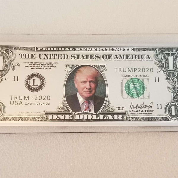 Trump Silver $1 Collectible Bill