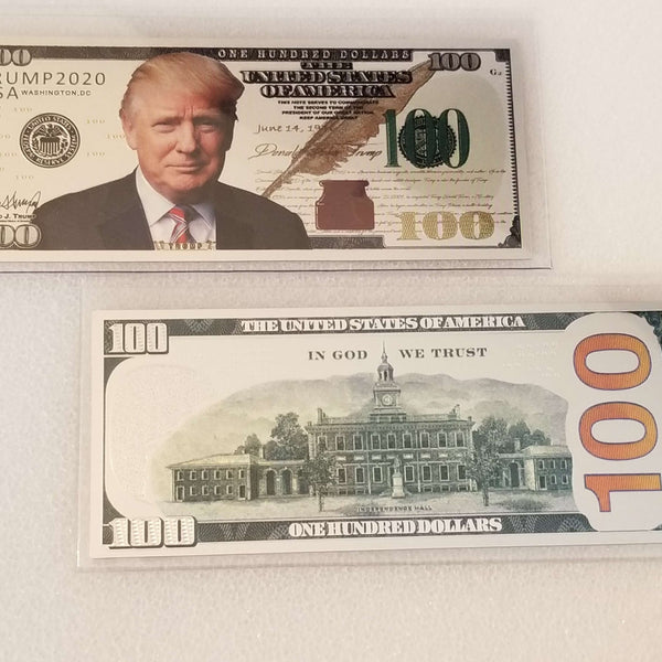 Trump Silver $100 Collectible Bill
