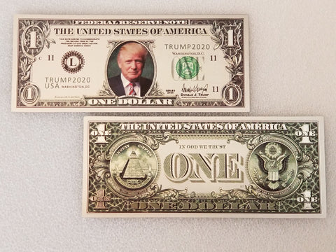 Trump Silver & Gold Collectible 3 Bill Set