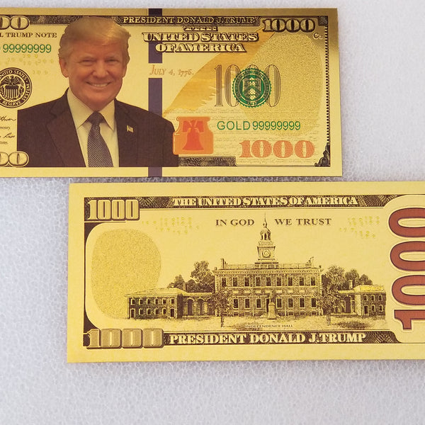 Trump Gold $1000 Collectible Bill