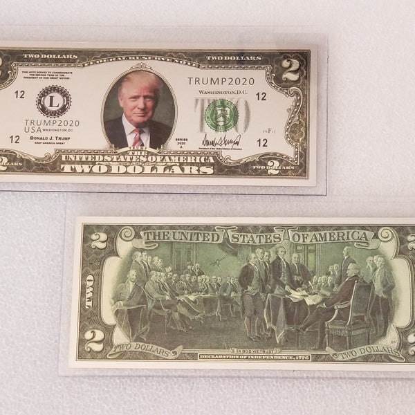 Trump Silver $2 Collectible Bill