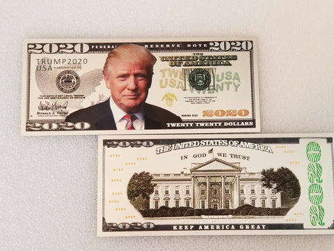 Trump Silver 2020 Collectible Bill