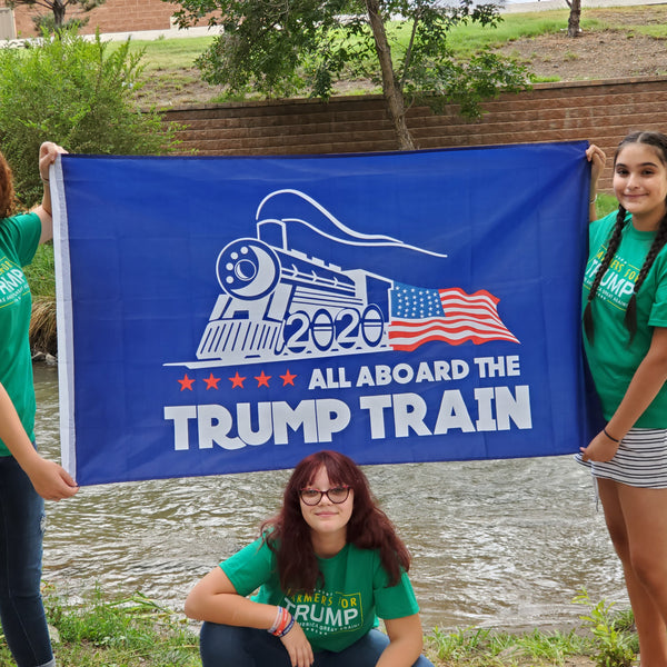Blue Trump Train Flag