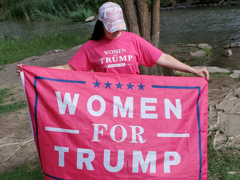 Pink Women for Trump Flag