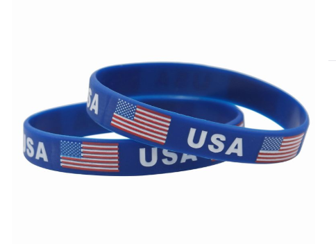 Blue USA Wristband