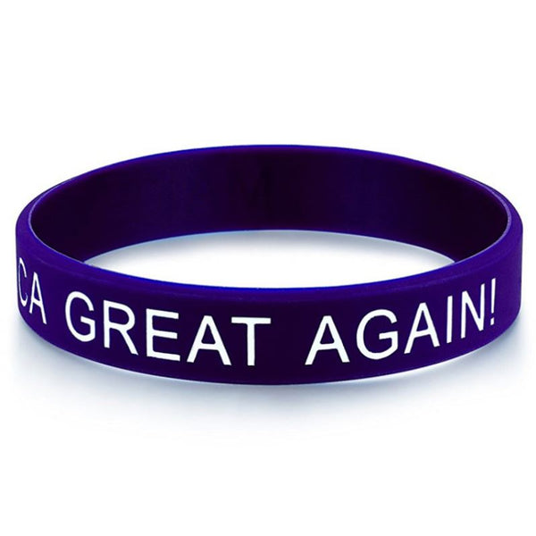 Blue MAGA Wristband