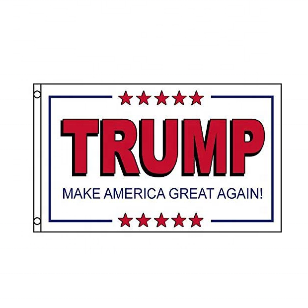 White Trump MAGA Flag