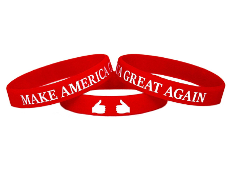 Red MAGA Wristband