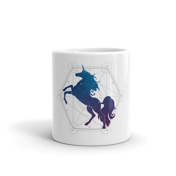 Unicorn Sacred Geometry Mug