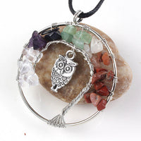 Tree of Life Owl Necklace Pendant