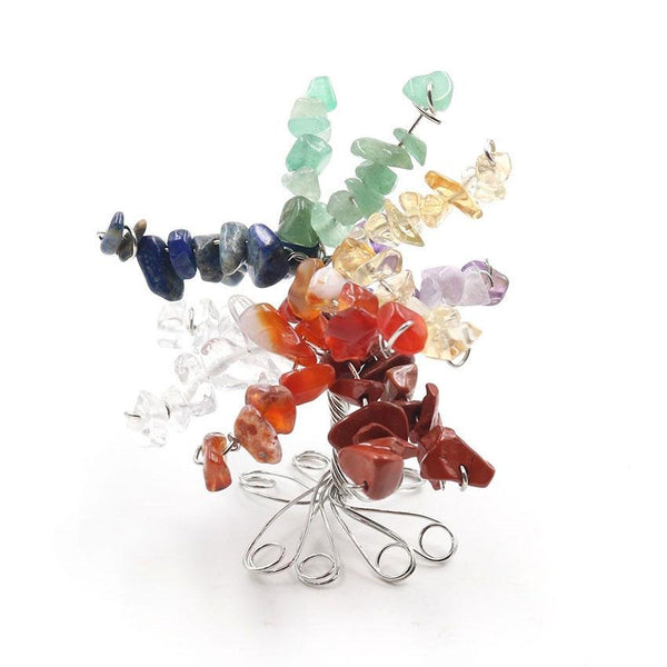 Wire Tree of Life Seven Chakras Ornament