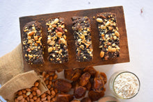 Load image into Gallery viewer, Date-Sweetened Dark Chocolate and Peanut Butter Brownies (6 pieces - 300g) - SampoornaAhara.com