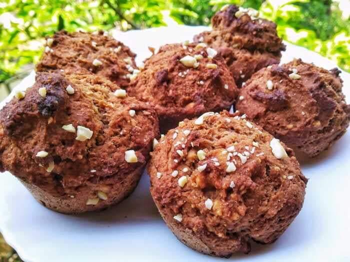 Fudgy Banana and Nut Muffins - Limited sale (6 muffins - 480g) - SampoornaAhara.com