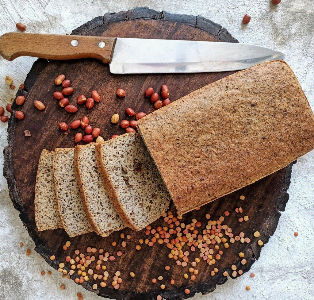 Gluten Free | Protein-Packed | Red Lentil and Peanut Loaf 600g - Grain Free - SampoornaAhara.com