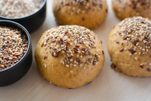 Load image into Gallery viewer, Multi-Seed Whole Wheat Buns - 4 pieces (300g) - SampoornaAhara.com