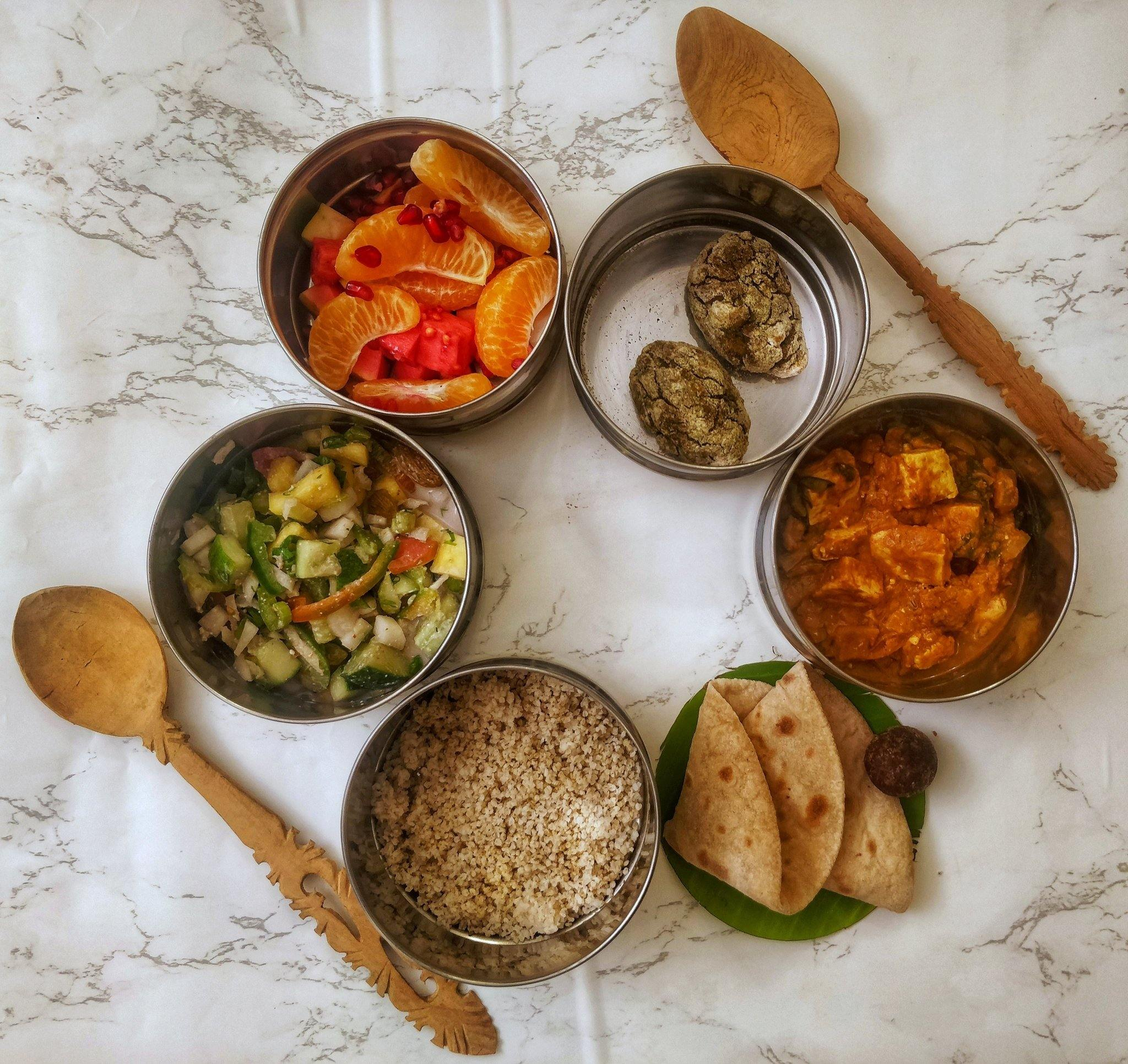 Plant-Based Combo Meals - Starter Pack | Healthy Food | Vegan | Lunch & Dinner | Nutrition Balanced Diet | Restaurants Style | Weight Loss Diet | Whole Food Plant Based Meal - SampoornaAhara.com