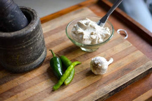 Tofu and Nut based Cream Cheese - Roasted Garlic and Chilli - 230g - SampoornaAhara.com