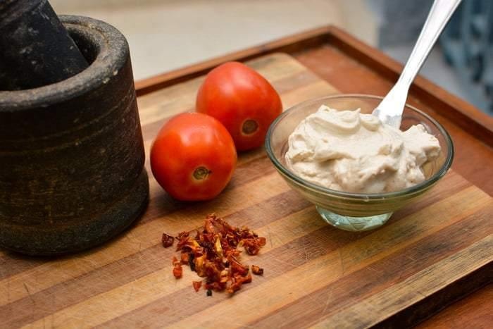 Tofu and Nut based Cream Cheese - Sundried Tomato - 230g - SampoornaAhara.com