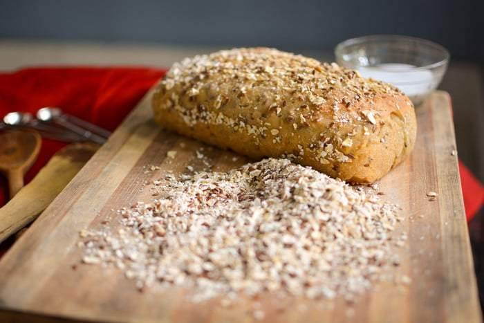 Whole Wheat Flaxseeds and Oats Sourdough Bread (500g) - SampoornaAhara.com