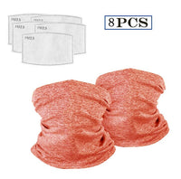 Neck seal with safety carbon filters. Multipurpose face covering-thumbnail