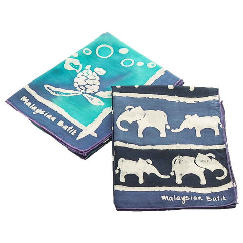 Handkerchief Set of 2 - Animal Series