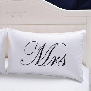 MR. and Mrs Beddin Pillowcase