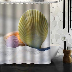 Beach Spa Waterproof Shower Curtain