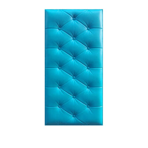3D Faux Leather PE Foam Wall Sticker