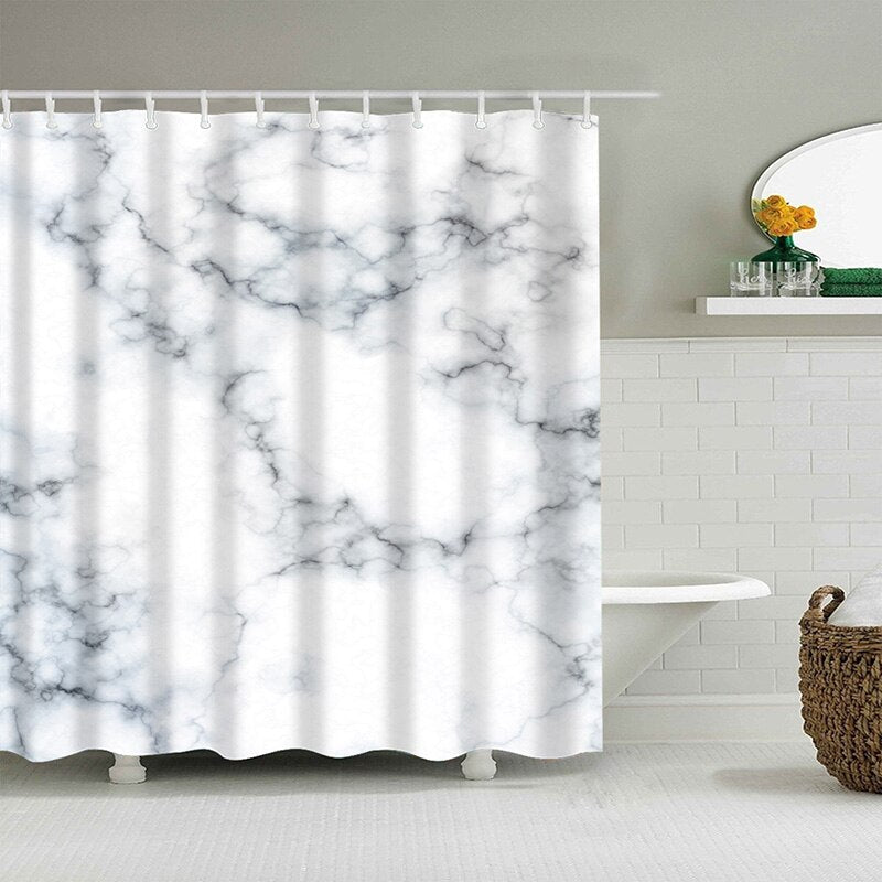 Marble Shower Curtains