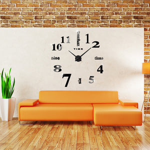 Wall Clock Mirror Sticker
