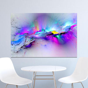 Abstract Unreal Pink Cloud Landscape Wall Art