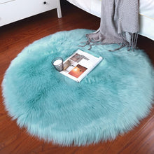 Load image into Gallery viewer, Round Faux Fur Soft Rug