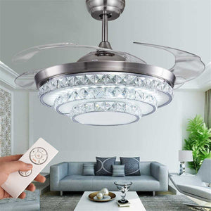 Invisible Luxury Crystal Ceiling Fan