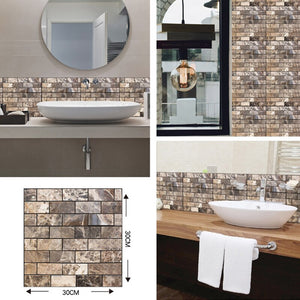 3D Stone Self Adhesive Wall Stickers