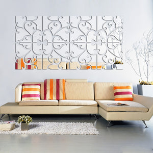 3D Wall Stickers Decorative Living Home Modern Dry Wall Sticker