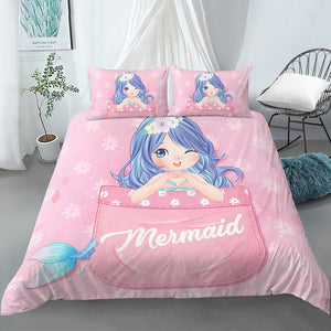 Mermaid Duvet Cover Bedding Set